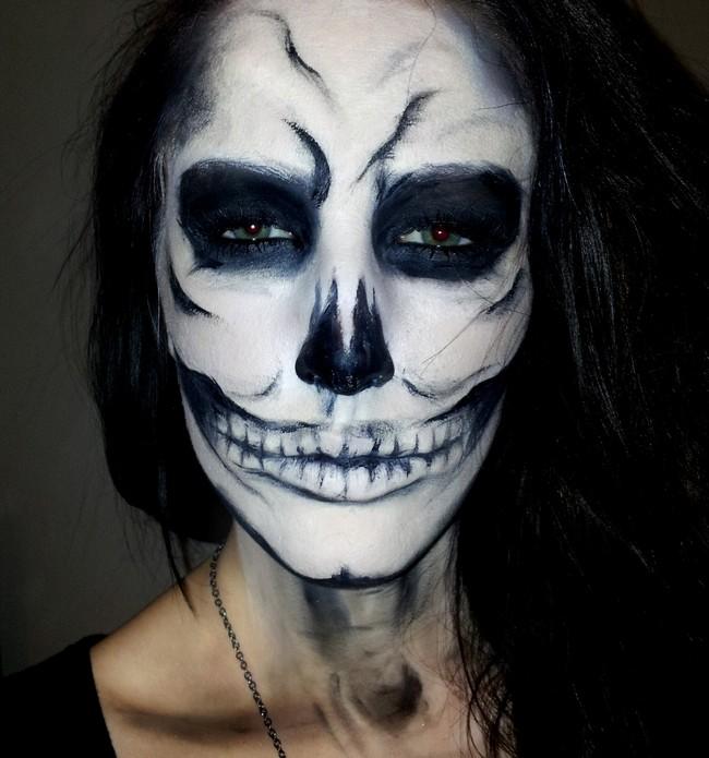 Halloween skull face paint ideas